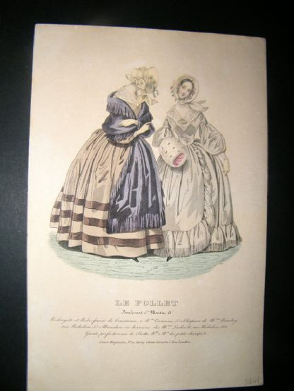 Le Follet C1840's Hand Coloured Fashion Print 825 | Albion Prints